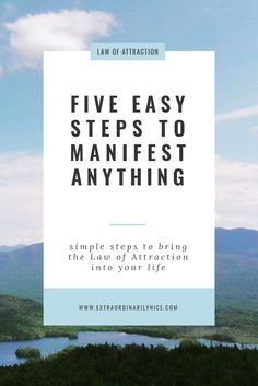 five easy steps to manifest anything! Law of Attraction | Manifest | Gratitude