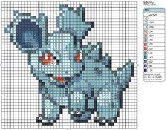 Nidorina Pokemon free cross stitch pattern