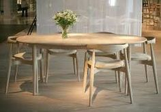 Image result for Marianne Wegner model CH 328 Dining Room Chairs, Dining Area, Dining Table, Hans Wegner, Modern, House, Furniture, Kitchens, Miniature