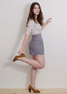 Chataigne shorts  Deer and Doe (Hourglass patterns)  high waist scallop option.  love!