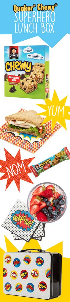Send your little one off to school in style with the help of Quaker® Chewy®. Plan on a yummy snack made with 100% whole grains, real chocolate chips, and other delicious ingredients and some words of encouragement to show them that they can conquer the world (or the first day of school). Let them know that if they're their own hero, the new school year is bound to be a breeze.