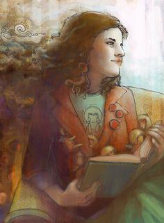 Reading, imagining / Leyendo, imaginando (ilustración de Aleksandra Chabros)