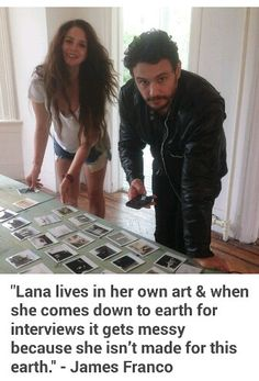 James Franco quote about Lana Del Rey (published in V Magazine) #LDR