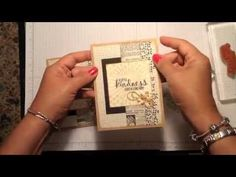 How do you finish the inside of your handmade cards? Here's a tip in this video tutorial featuring Stampin' Up! products. www.inkandinspirations.com