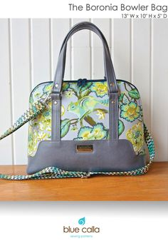 The Boronia Bowler Bag by Blue Calla Sewing Patterns (Printed Paper Pattern)