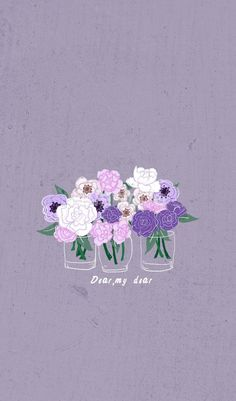 Dear my Dear Wallpaper Purple Wallpaper Iphone, Cute Wallpaper Backgrounds, Tumblr Wallpaper, Pretty Wallpapers, Colorful Wallpaper, Aesthetic Iphone Wallpaper, Flower Wallpaper, Mobile Wallpaper, Aesthetic Wallpapers