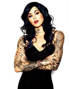 Kat Von D! Her show was cool the first season before it got ridiculous scripted and fake. I love her artwork though