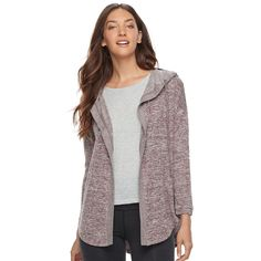 Plus Size Extra Touch Women's Plus Hooded Cardigan, Size: 2XL ...