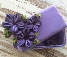 Flower Box-Cajita con Flores  15 $ USD Instagram-Artfabricflowers Youtube channel-Artfabricflowers by Aleymy