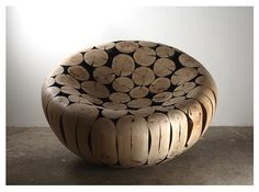 3 dimensional seat (ii) made from wood pieces by Jae Hyo Lee. #plocomiUpcycle