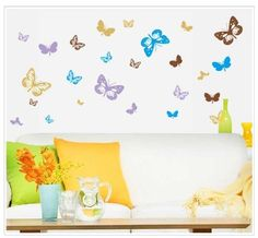 Wall Decals - http://Amazon.com - YYone Sweet Memory Character Tree and Green Leafs of Nine Picture Frame and Two Birds for Home Wall Dcor -