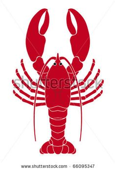 lobster illustration - stock vector