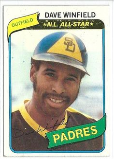 1980 TOPPS DAVE WINFIELD CARD #230 in Sports Mem, Cards & Fan Shop, Cards, Baseball | eBay