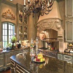 Ways to Materialize an Awe-Inspiring French Country Kitchen Luxury Kitchens AweInspiring Country French Kitchen Materialize ways Tuscan Kitchen, Beautiful Kitchens, French Country Kitchen, Elegant Kitchens, Tuscan Decorating, Mediterranean Home Decor, Country Kitchen Designs, Kitchen Design, French Country Kitchens