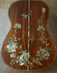 Custom Classical Acoustic Guitar Mother of Pearl Abalone Inlay- A Masterpiece! Custom Classical Acoustic Guitar Mother of Pearl Abalone Inlay A Masterpiece! Custom Acoustic Guitars, Acoustic Guitar Chords, Ukulele Art, Classical Acoustic Guitar, Guitar Art, Custom Guitars, Cool Guitar, Classical Guitars, Guitar Inlay