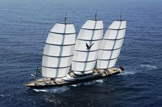 Luxury sailing yacht 'Maltese Falcon' is massive 88 meter mega yacht built by the Italian Perini Navi Yachts. Luxury Sailing Yachts, Big Yachts, Super Yachts, Maltese Falcon Yacht, Amphibious Vehicle, Float Your Boat, Yacht For Sale, Yacht Boat, Tall Ships