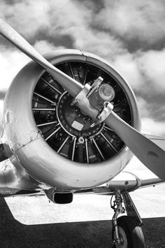AT6 Radial engine vintage aviation wall decor print. 12x18in satin photo print - $25 to 36x54in canvas - $400