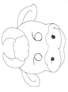 Educando com a Tia Mara e Cia: Máscara de Animais l - Para colorir