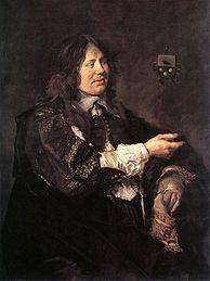 """Frans Hals, Stephan Geraerdts, c. 1650-52 (et son épouse Isabella Coymans). Vers 1650 recherche de versions """"plus élégantes"""" du portrait, la formule d'Hals passe de mode, à comparer avec Johannes VERSPRONCK"""
