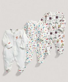 Unisex Essentials Three Pack of Timbuktales All in Ones - Multipacks - Mamas & Papas