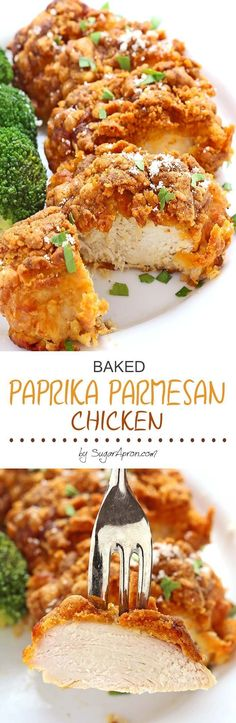 Baked Paprika Parmesan Chicken is one of those everyone-should-know-how-to-make recipes. It's easy and comes together quickly. In fact, it's hard to mess up!(How To Make Recipes Meals) Turkey Recipes, Meat Recipes, Cooking Recipes, Healthy Recipes, Recipies, Zoodle Recipes, Easy Chicken Dishes, Quick Easy Chicken Recipes, Healthy Snacks