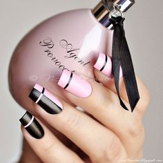 Pink Nails Designs to Look Romantic and Girly Charming Pink And Black Designs Using Nail Tape. Best Pink Nails Designs to Look Romantic and GirlyCharming Pink And Black Designs Using Nail Tape. Best Pink Nails Designs to Look Romantic and Girly White Nail Designs, Pretty Nail Designs, Pretty Nail Art, Nail Art Designs, Nails Design, Nail Manicure, Gel Nails, Nail Polish, Manicure Ideas