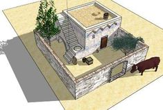 Inside an ancient Canaanite/Israelite house Historical Architecture, Ancient Architecture, Casa Viking, Courtyard House Plans, Medieval Houses, Ancient Near East, Ancient Buildings, Fortification, Dungeons And Dragons