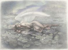 "The Marsh King's Daughter. Graphite and color pencil on Arches paper, 22.5"" X 30"". 2011"