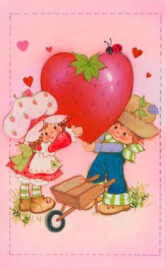 strawberry shortcake and huckleberry pie - happy valentine's day