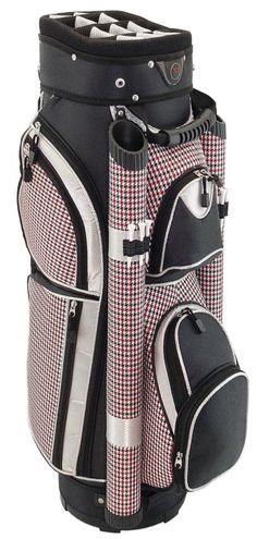 A Perfect Way To Organize Golf Stuff Through Black Pink Houndstooth Hunter Eclipse Las Cart Bag