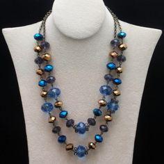 Trifari Glass Bead Double Strand Necklace Vintage | eBay