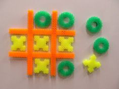 Perler tic tac toe- could also make checker pieces.