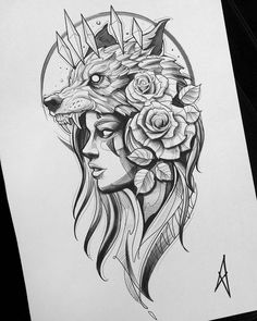 Longsleeve sketch Zeus/Hades - Your dream wedding and venue organization, Your dream wedding and venue organization Wolf Girl Tattoos, Lion Head Tattoos, Lion Tattoo, Body Art Tattoos, Sleeve Tattoos, Moth Tattoo, Inca Tattoo, Sketch Style Tattoos, Tattoo Sketches