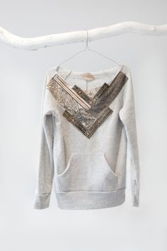 Love this... Looks like something we could make from a sweatshirt