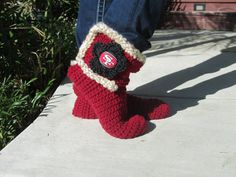 San Francisco 49ers Slipper Socks by uniquelyyourscouture on Etsy, $30.00