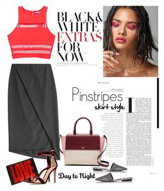 """Day to Night  Pinstripes"" by ellie366 ❤ liked on Polyvore featuring Narciso Rodriguez, Kate Spade, T By Alexander Wang, DKNY, Givenchy, Gianvito Rossi, DayToNight and pinstripes"