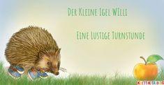 Der kleine Igel Willi – Eine lustige Turnstunde für die Kita | Klett Kita Animals, Blog, Kids, Collage, Garden, Furniture, Physical Education Activities, Games For Preschoolers, Exercise For Kids