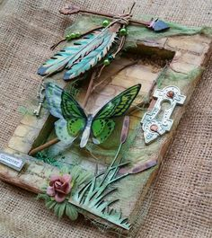 Mixed Media Video Tutorial by Gabrielle Pollacco, featuring Shimmerz Paints, Dusty Attic Chipboard and The Crafter's Workshop Stencils. PRODUCTS USED IN THIS...