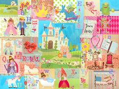 """""""Royal Alphabet""""  canvas wall art by the Winborg Sisters starts at $119 for elegant and educational nursery decor."""