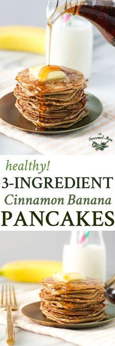 3-Ingredient Healthy Banana Pancakes | Breakfast Ideas | Breakfast Recipes | Healthy Breakfast | Healthy Recipes