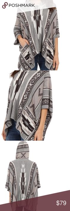 """30%OFF EVERYTHING CLOSET CLOSING Billabong ROUNDED NECKLINE FEATURES DRAWSTRING HOOD. OVERSIZED SLEEVES. DUAL HAND POCKETS. ASYMMETRICAL HEM LINE. 60%Cotton 30%acrylic. Hand wash lay flat. Length 32"""".  S/M Billabong Sweaters Shrugs & Ponchos"""