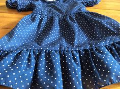 Size 4 5  Vintage girl  I Love Lucy  Retro Blue by LittleMarin