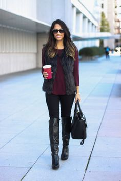 Faux Fur Vest…Click on the picture for outfit details