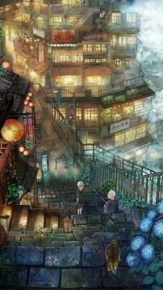 City Anime Wallpapers Imagen Scenery Original Ciudad Montain Picture… Source by misslouisedoll Comments comments Fantasy City, Fantasy Places, Fantasy World, Fantasy Landscape, Landscape Art, Anime Scenery, Land Scape, Amazing Art, Cool Art