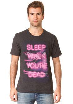 BENCH Sleep S/S T-Shirt black marl #planetsports