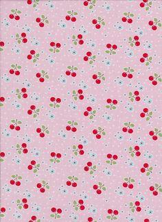 Bake Shop by Lori Holt Cherries on Pink by DonnasLavenderNest