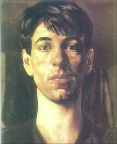 Self Portrait (1914) by Stanley Spencer via Stanley Spencer Museum.