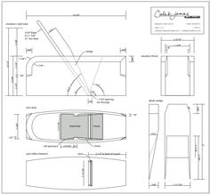 Wooden Smoothing Plane Plans [This seems to be a very good set of plans, generously offered by the designer. If you are considering making a set of quality planes, this might be the place to start]