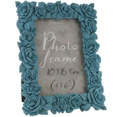 rose frame blue 4x6