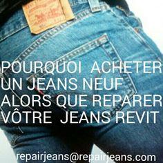 Une bonne  adresse  à  Paris  pour l'entretien  de vos  #denim #selvedge #jeans  (Repairjeans )